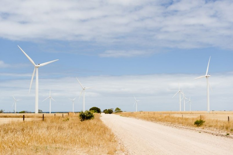 Wind Turbines in Rural Australia